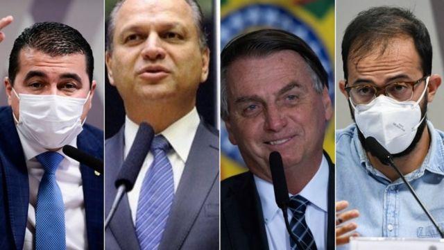 Luis Carlos Miranda, Ricardo Barros, Jair Bolsonaro e Luis Ricardo Miranda