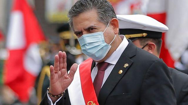 Manuel Merino el 10 de noviembre