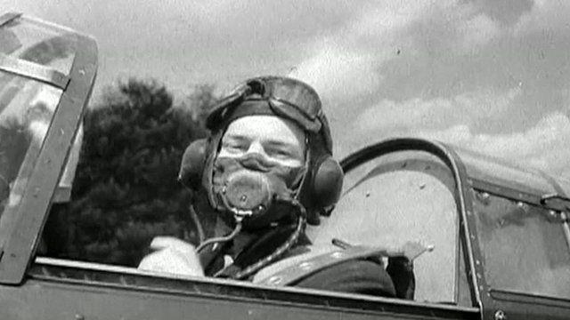 British pilot prepares for take-off