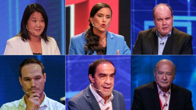 The six candidates with the most options to go to the second round according to the latest public poll.