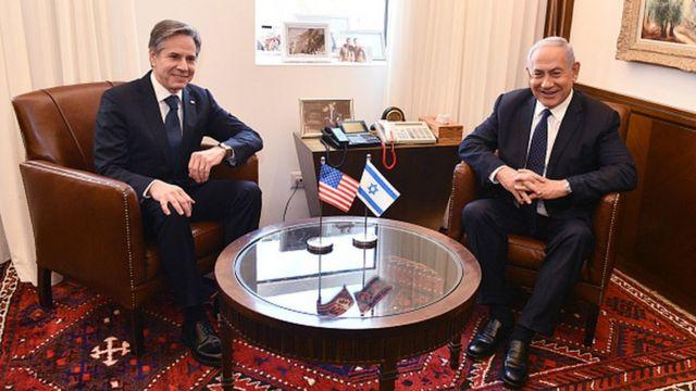 Энтони Блинкен и Биньямин Нетаньяху, 25 мая 2021