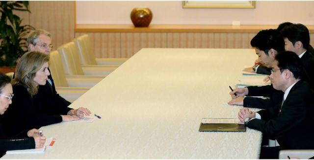 岸田外相はケネディ駐日大使を外務省に呼び抗議した(19日)