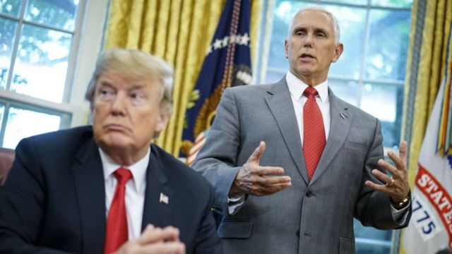 Donald Trump y Mike Pence.