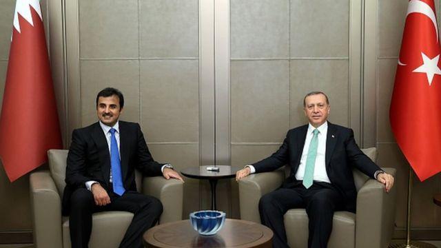 Katar Emiri El Sani ve Cumhurbaşkanı Recep Tayyip Erdoğan