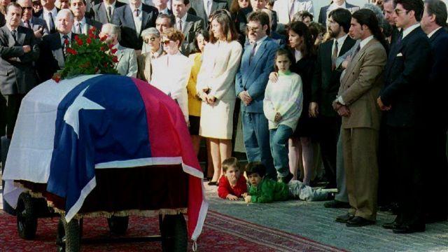 Honras fúnebres a Letelier.