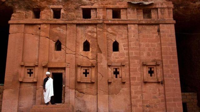Una de las iglesias de Lalibela