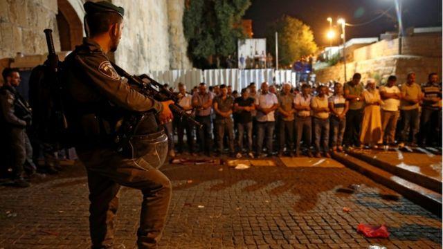 السلطات الإسرائيلية عززت إجراءاتها أمنية في محيط المسجد الأقصى
