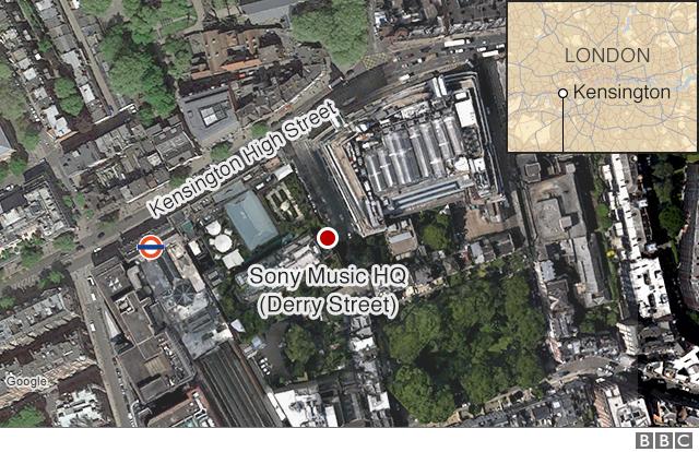 Map of Kensington High Street
