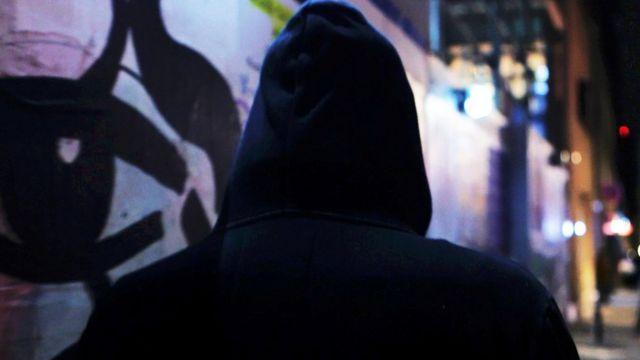 Человек спиной
