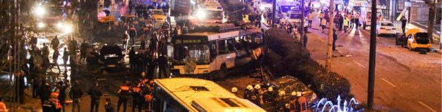 موقع تفجير في انقرة في 13 مارس/آذار 2016