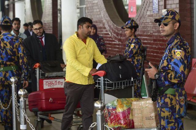 Airport security Dhaka