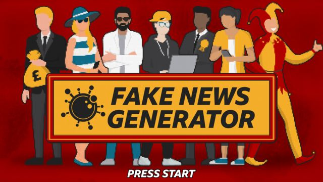Characters who create fake news