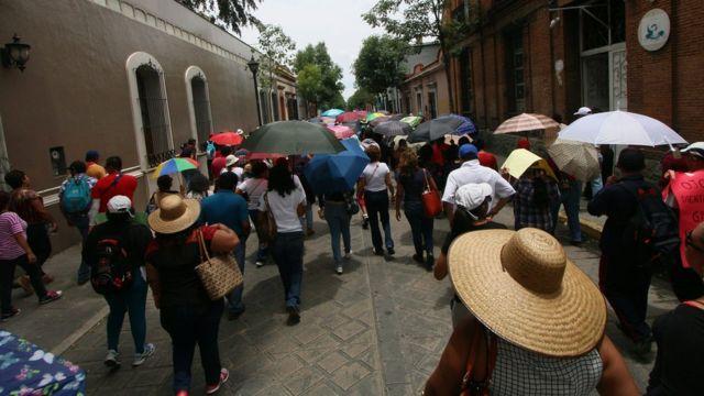 Los maestros realizaron una nueva marcha el lunes 20 de junio para denunciar la muerte de 8 personas en Oaxaca.