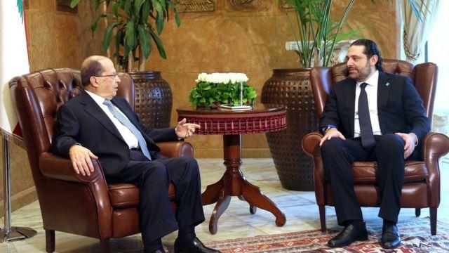 الرئيس ميشال عون قال إن استقالة الحريري لن تقبل إلا بعد عودته واتخاذ السبل الدستورية
