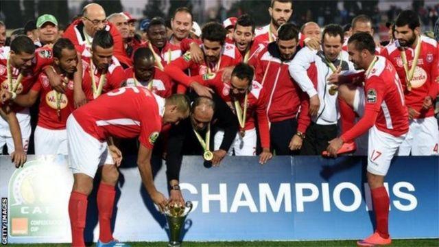 Les joueurs de l'Etoile du Sahel ont remporté la Coupe de la Confédération en 2015