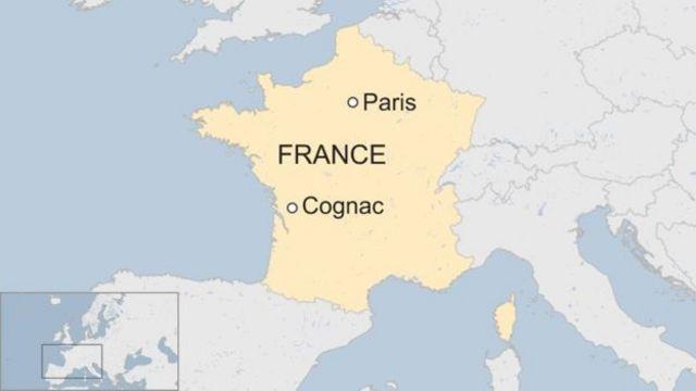 Esta imagen de prueba, copyright BBC, muestra un mapa de Francia. La imagen está en los primeros tres bloques y tiene este título.