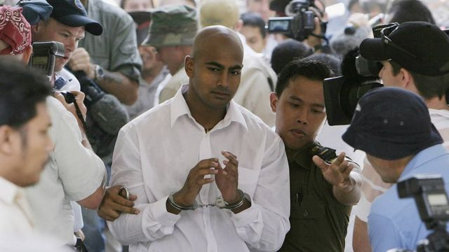 Myuran Sukumaran dalam sidang pertamanya di Bali, pada Oktober 2005.