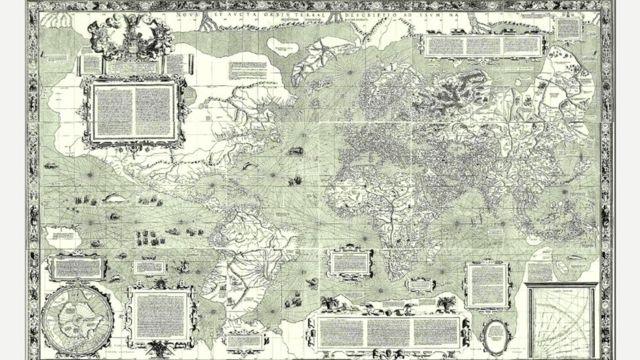 Карта мира, составленная Меркатором (1569 год)