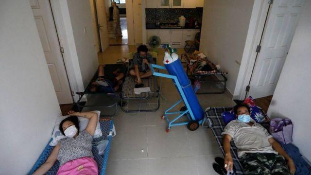 Bệnh nhân nhiễm Covid được điều trị tại bệnh viện dã chiến số 6 ở TP HCM