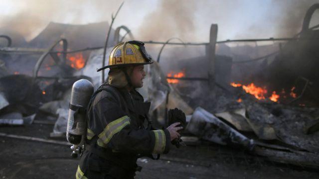 صورة لإحدى الحرائق