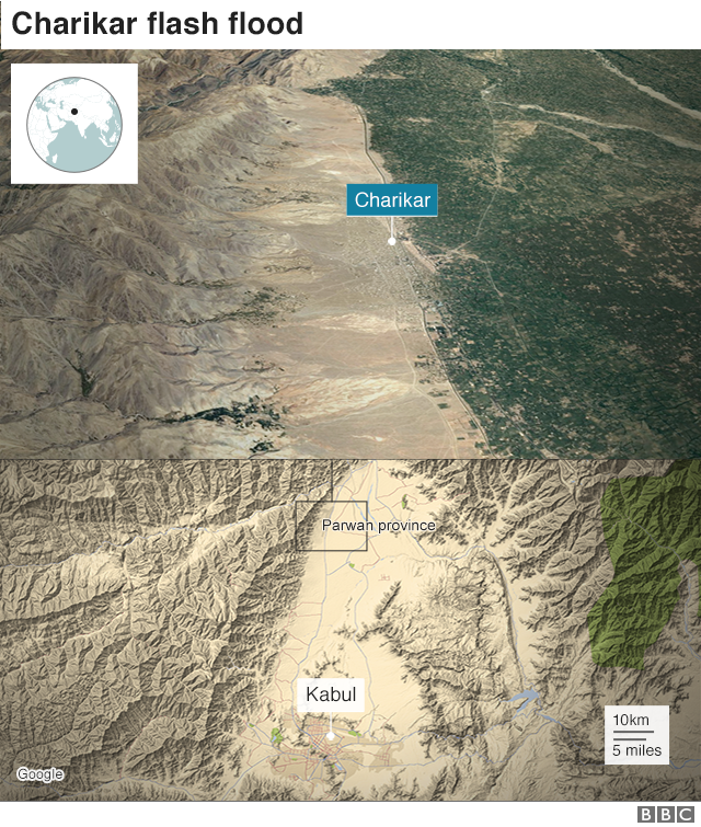 Map showing Charikar