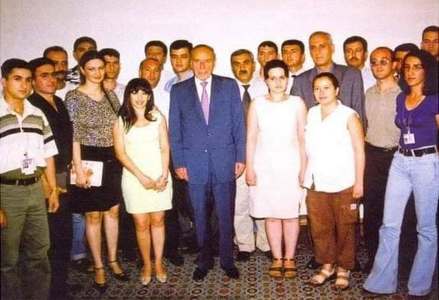 İlhamə Qasımlı, Heydər Əliyev, jurnalistlər