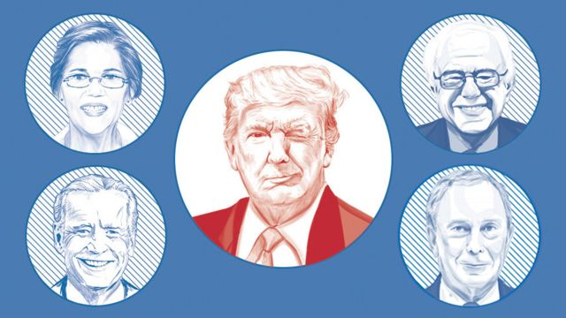 foto de los candidatos democratas