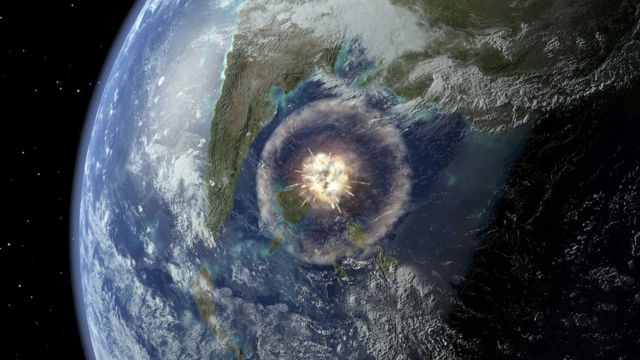 meteor, tabrakan, dinosaurus
