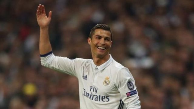 Ronaldo ni we ahembwa amahera menshi kw'isi mu mupira w'amaguru