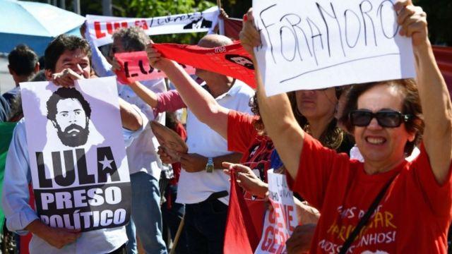 manifestação contra moro