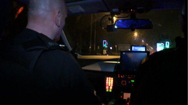 Police on patrol on Nechells Parkway, Birmingham