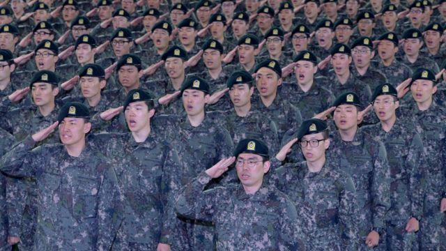 논산 육군훈련소의 훈련병