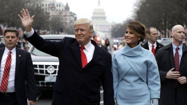 นายโดนัลด์ ทรัมป์ สาบานตนเข้ารับตำแหน่งประธานาธิบดีคนที่ 45 ของสหรัฐฯ ในวันที่ 20 ม.ค.