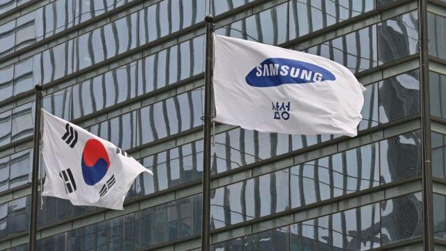 Флаги Южной Кореи и Samsung