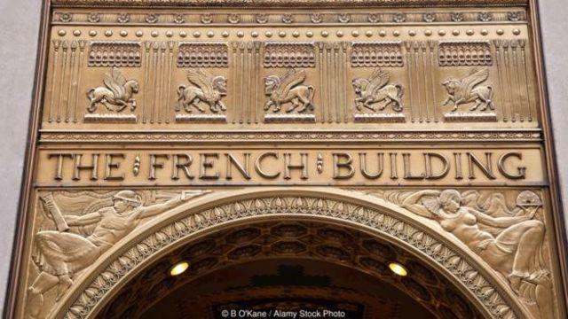 Fred F Fransız Binası və New Yorkda yerləşən Art Deco göydələni Mesopotamiya incəsənəti və dizaynından ilhamlanaraq yaradılıb
