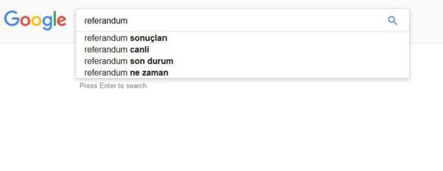 google araması