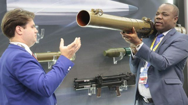 African delegate carri rocket launcher to test