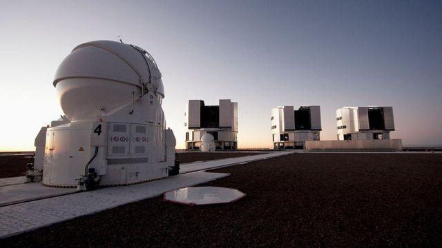 Telescopio Muy Grande del Observatorio Europeo del Sur, en Paranal, Chile.