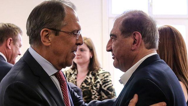Sergey Lavrov ve Kadri Cemil, 2016'da muhalif grupların Viyana'daki müzakerelerinde bir araya gelmişti.