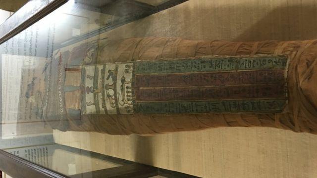 Naishu es la momia de 4.500 que fue restaurada en el museo de Hyderabad, India.
