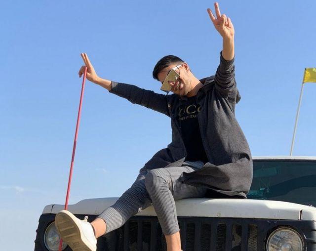 تصویر علی فاضلی مفرد (معروف به علیرضا) در صفحه اینستاگرامش