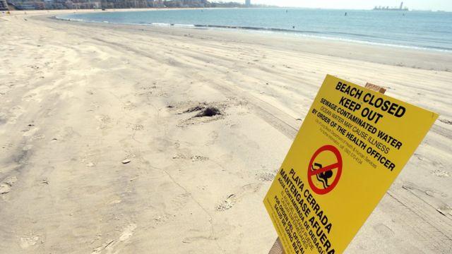 Плакаты на пляжах Калифорнии