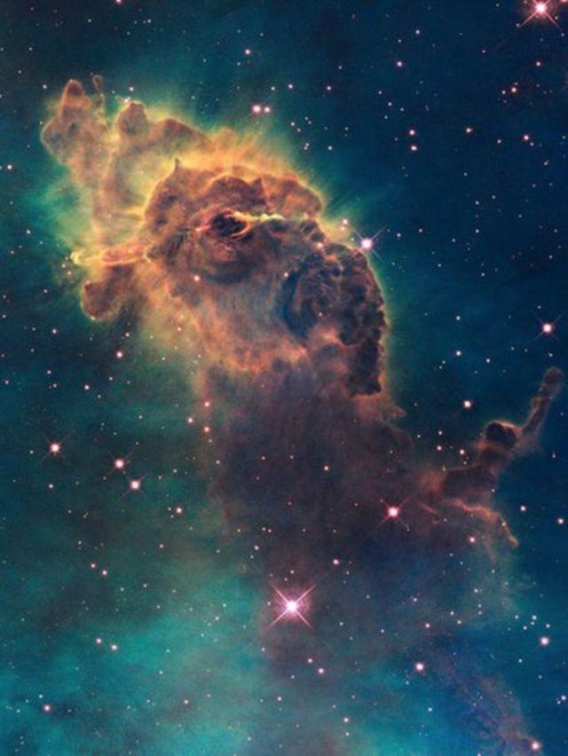 تصویر فواره قطبی در سحابی شاهتخته که تلسکول هابل گرفت