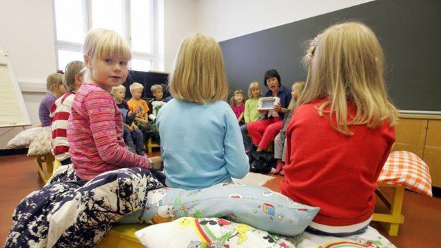 Children in a school in Finland