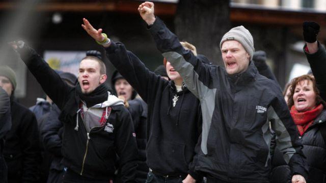 Manifestação neonazi na Suécia