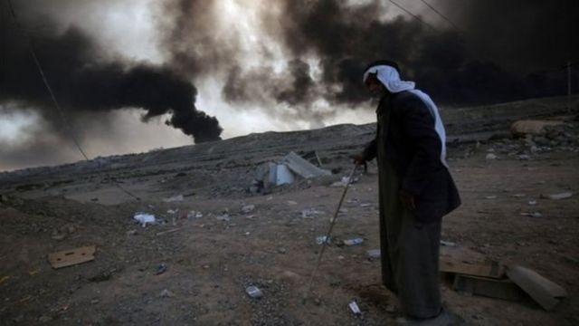 Mutanen da dama sun tsere daga Mosul da kewayensa