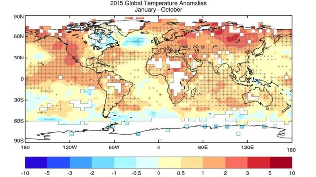COP21: 2015 likely to be warmest on record, says UN weather body