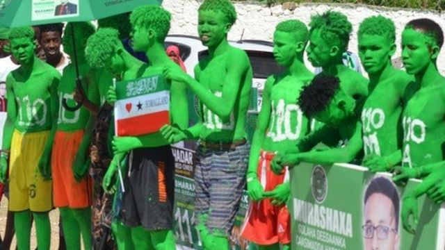 Qaar ka mid ah taageerayaasha xisbiga mucaaradka Caddaaladda iyo Horumarka ee Somaliland