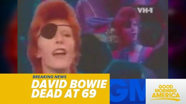 US TV reporting death of David Bowie
