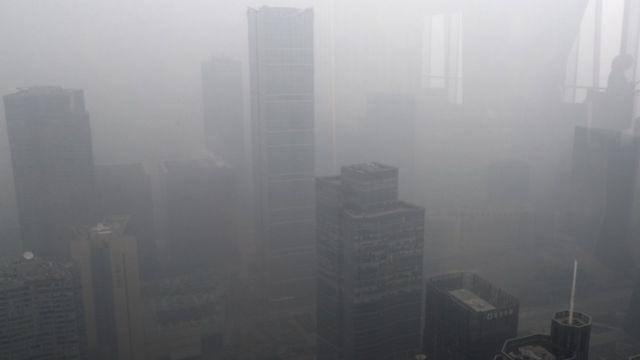 चीन में धुंध